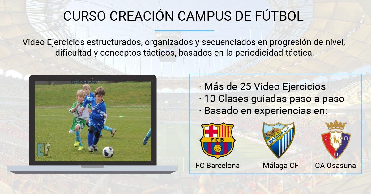 Ejercicios Fútbol - Curso Creación Campus de Fútbol sin precio