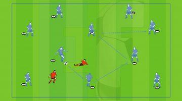 Ejercicios Fútbol - Footaball Soccer Drill - Posesión, agilidad mental, velocidad ejecución, primer toque. First Touch, possession, mental agility.