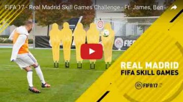 Video divertido del reto Real Madrid Fifa Challenge de tiros de faltas.