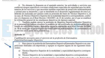 Sanciones de hasta 30.000€ por entrenar sin titulación a Entrenadores y Preparadores Físicos