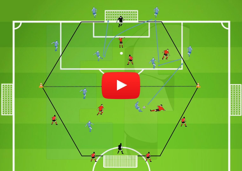 Video ejercicio partido en hex gono pases verticales for Cuando es fuera de lugar en un partido de futbol