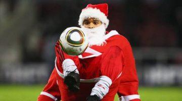 Ejercicios Fútbol - Santa Claus jugando a Fútbol - Descanso activo